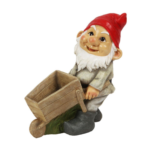 Outdoor Statue 27cm height Beautiful Garden Gnome Traditional Large Ornament