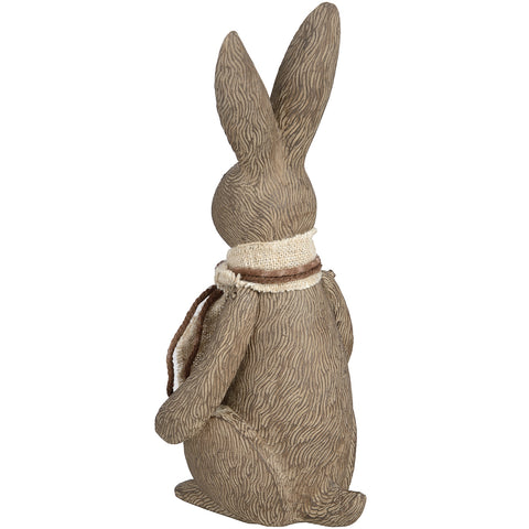 Rabbit Sculpture Ornament Figurine Large Rustic Country Cream Effect Hare