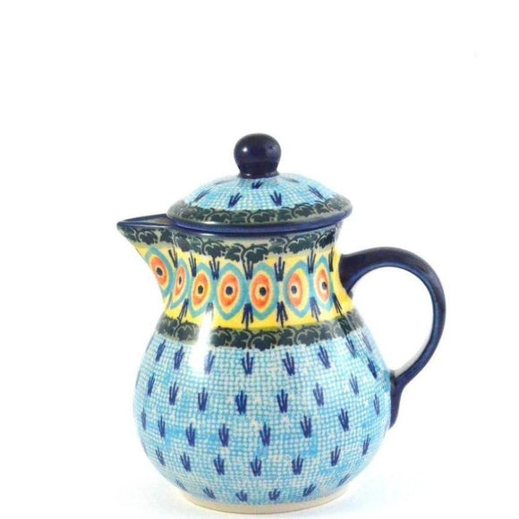 Jug with lid 0.6L Blue Peacock