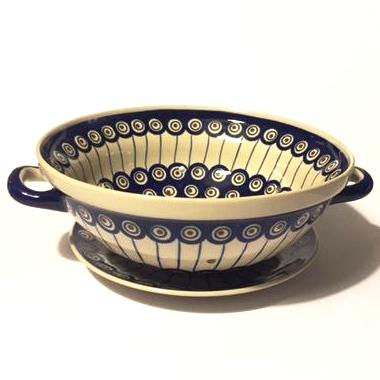 Colander 24 cm with a plate 21 cm Peacock