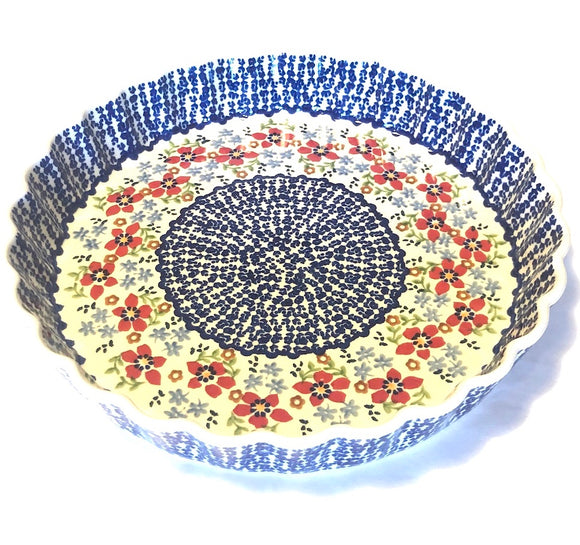 Tart Dish 27cm Flowers MM01