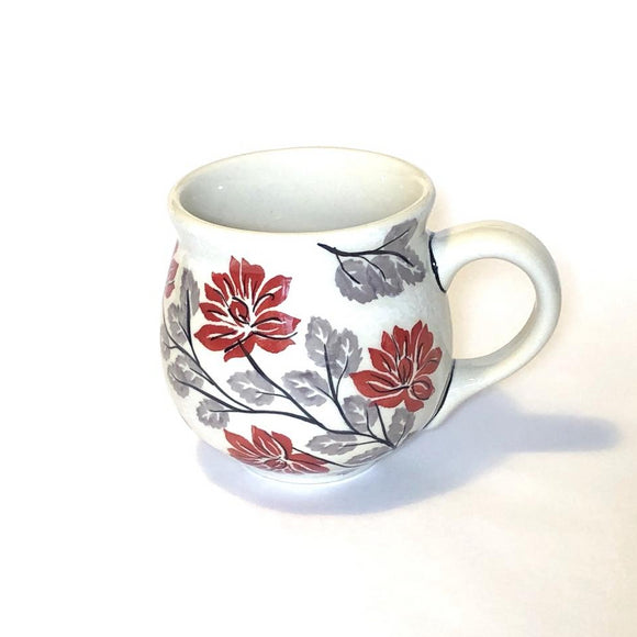 Mug Belly medium Flowers KS01