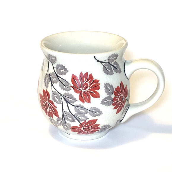 Mug Belly large Flowers KS01