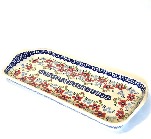 Long Serving Dish Flowers MM01