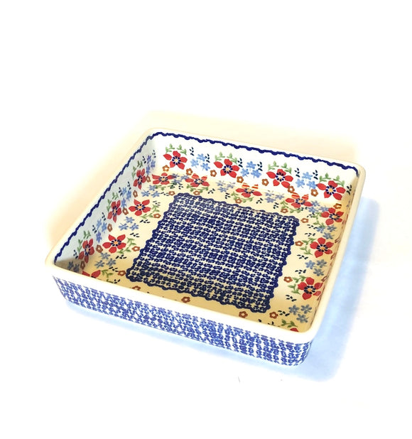 Square Dish Flowers MM01