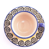 Coffee Cup & Saucer Swirls