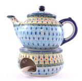 Heater for a Teapot Blue Peacock