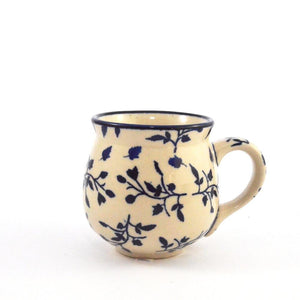 Mug Belly medium Blue Leaves