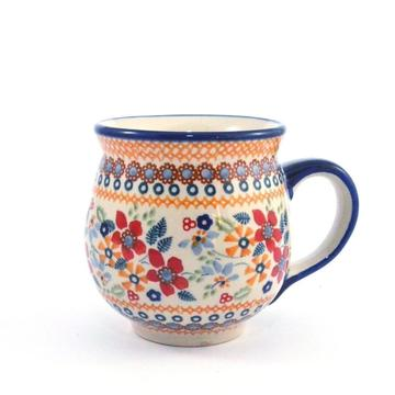 Mug Belly medium Red Daisy