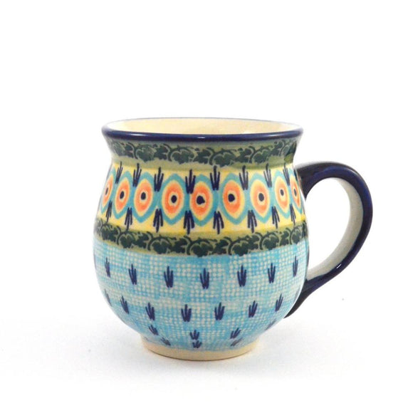 Mug Belly large Blue Peacock
