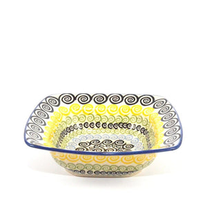 Square Serving Dish Swirl