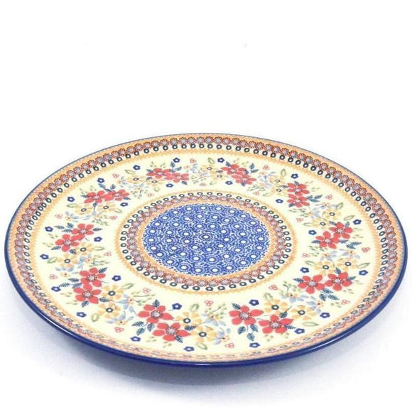 Large Plate 31cm Red Daisy