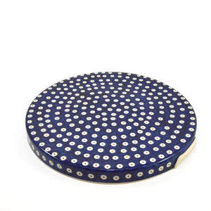 Cake Platter with handles Dots