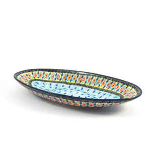 Serving Dish Blue Peacock