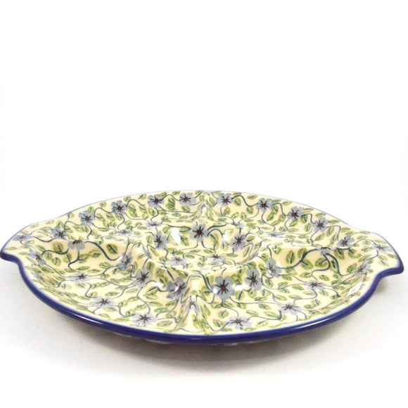 Serving Dish Divided large Green Dream