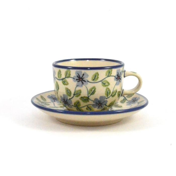 Coffee Cup & Saucer Green Dream