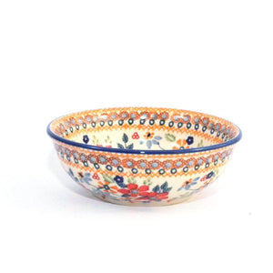 Breakfast Bowl 400ml Red Daisy