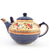 Teapot large 3L Red Daisy