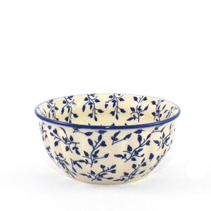Salad Bowl medium Blue Leaves