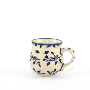 Mug Belly small Blue Leaves