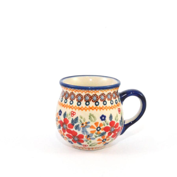Mug Belly small Red Daisy