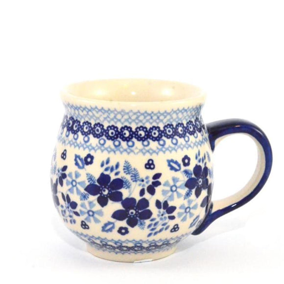Mug Belly large Blue Daisy