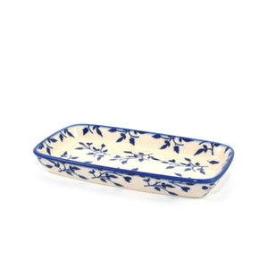 Serving Dish small Blue Leaves