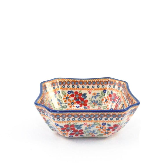 Serving Dish / Bowl medium Red Daisy