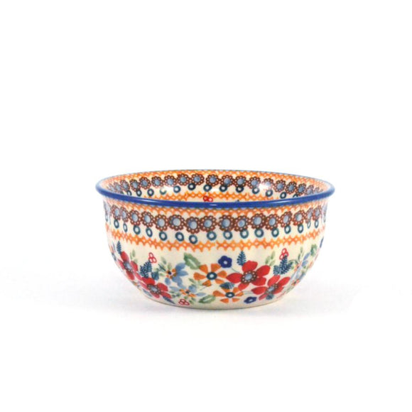 Rippled Bowl 400 ml Red Daisy