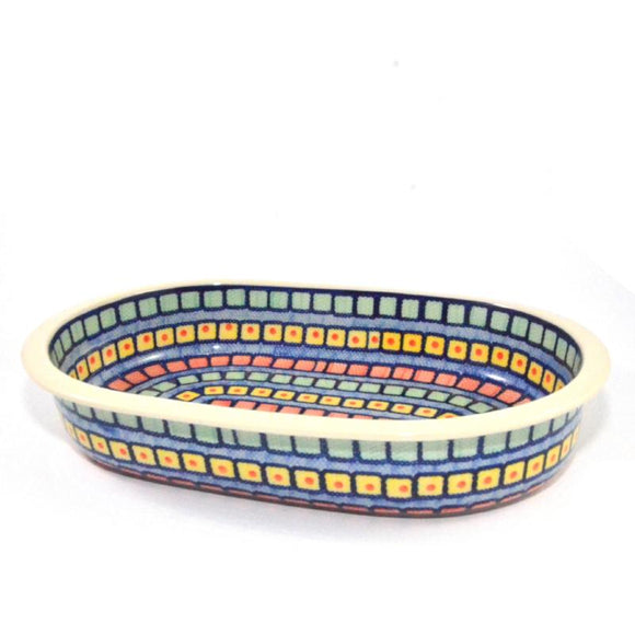 Oval Oven Dish large Mosaic