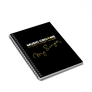 Music Crowns 'My Songs' Spiral Notebook - Ruled Line