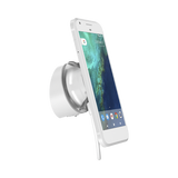 J-Plug Tab Stand 2 with smartphone wall mounted