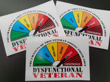 Dysfunctional Veterans Sticker V2.0