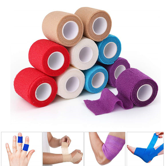 4.5m Self-Adherent Wrap Cohesive Bandage Breathable Kinesiology Tape Sports Elastic Self-Adhesive Non-woven Bandage Roll