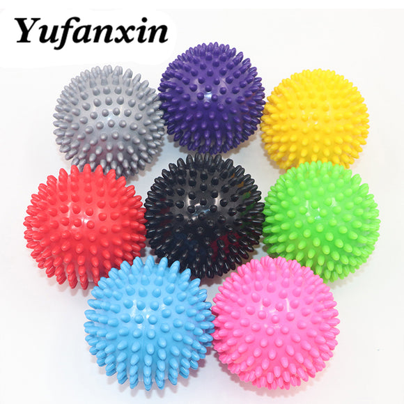 Massage Ball Fitness PVC Hand Soles Hedgehog Sensory Training Grip the Ball Portable Physiotherapy Ball 7.5CM 8 Color Wholesale