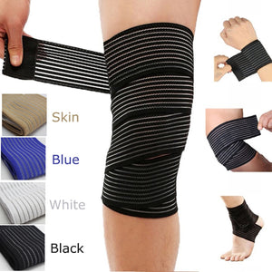 1 Pc elastic bandage fitness outdoor sports knee pads sports leggings elbow wristband elastic full foot bandage safety 40~120cm