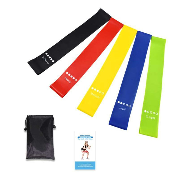 Yoga Belt Resistance Bands Emulsion Training Pull Rope For Sports Pilates Expander Fitness Gum Gym Workout Equipments