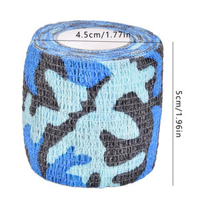 4.5m Outdoor Camo Printed Durable Self Adhesive Elastic Bandage Sports Wrap Tape for Finger Joint Knee First Aid Kit Safety 2020