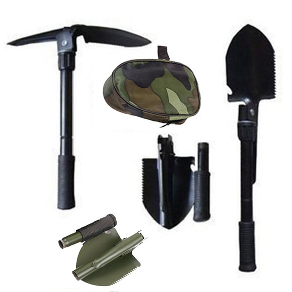 Outdoor Survival Shovel Multi Function Shovels Open Bottle Digging Mud Cut Tree Shovel Hiking Camping Tool Travel Survival Tools
