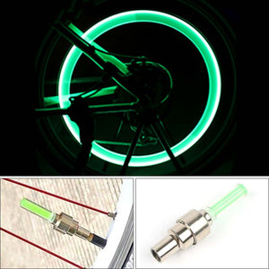 Mini LED Bicycle Lights Install at Bicycle Wheel Tire Valve's Cycling Bicycle Accessories Bike LED Light Bike Riding Lamps Gift