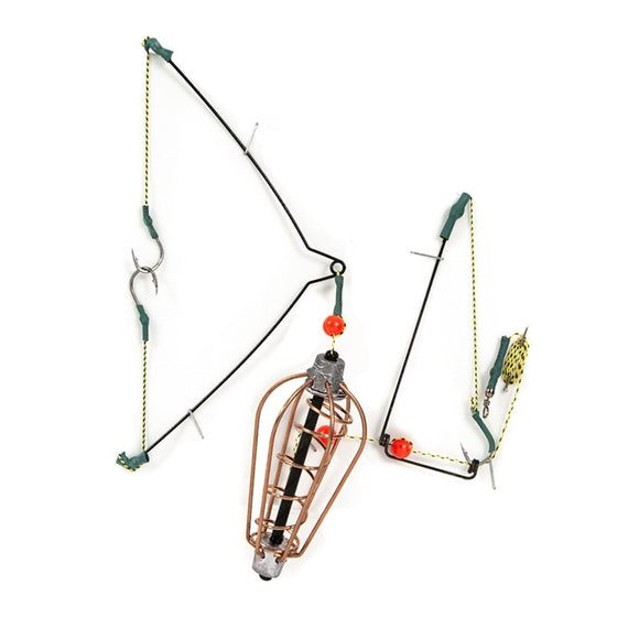 15G 20G 25G 30G Fishing Bait Cage  Bait Lure Copper Trap Basket Feeder Holder With Hooks Carp Fishing Tackle Accessories