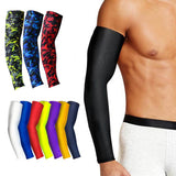 1Pcs Breathable Quick Dry UV Protection Running Arm Sleeves Basketball Elbow Pad Fitness Armguards Sports Cycling Arm Warmers