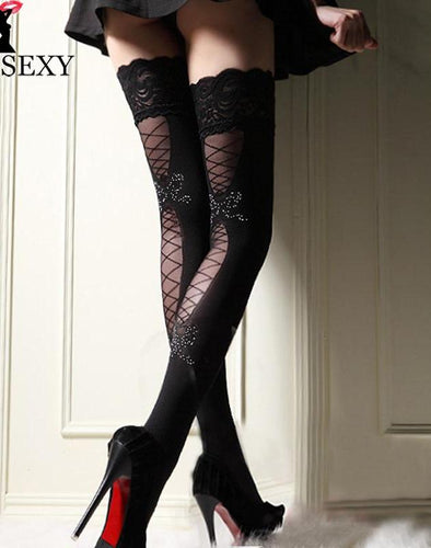 Sheer Lace Fishnet Straps