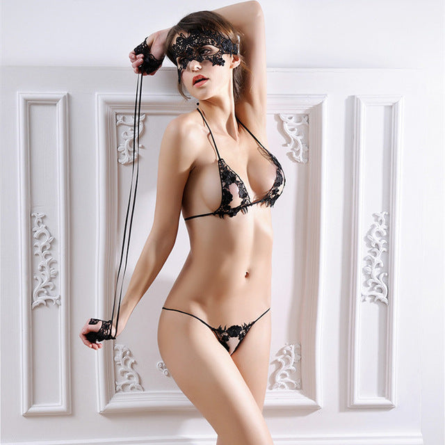 Bra Set Sexy Mask + Hand Circle + Bra Brief Sets