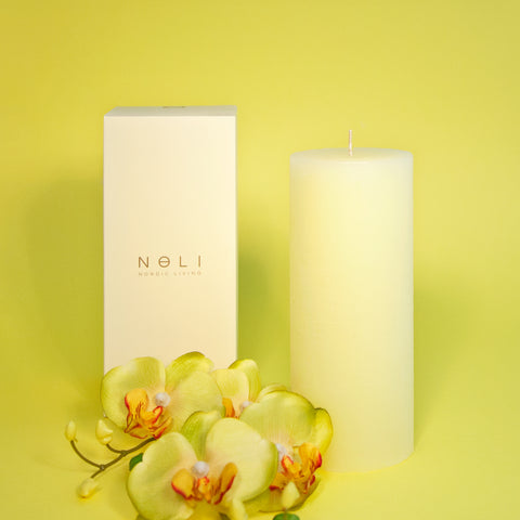 Yellow Pillar Candle