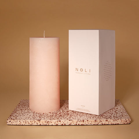 Peach Pillar Candle