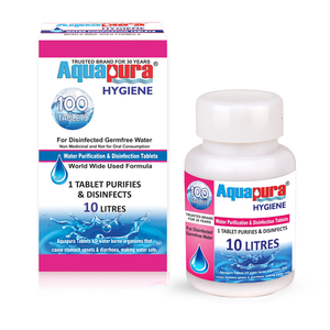 <div>Aquapura Hygiene</div><p>Water Purification Tablets for Drinking & Hygiene Applications at Home/Workplace<br>Each Tablet for 10 Litres Water
