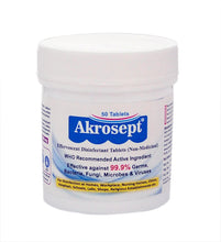 Akrosept Surface and Objects Powerful Disinfectant Tablets - Kills 99.9% Germs, Bacteria, Microbes, Viruses including Covid-19 Corona Virus