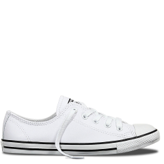 0102bcf80e1c CONVERSE CHUCK TAYLOR WOMENS ALL STAR DAINTY LEATHER LOW ...