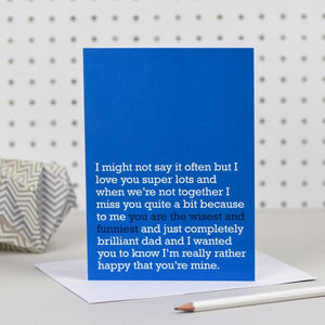 'You Are The Wisest And Funniest' Card
